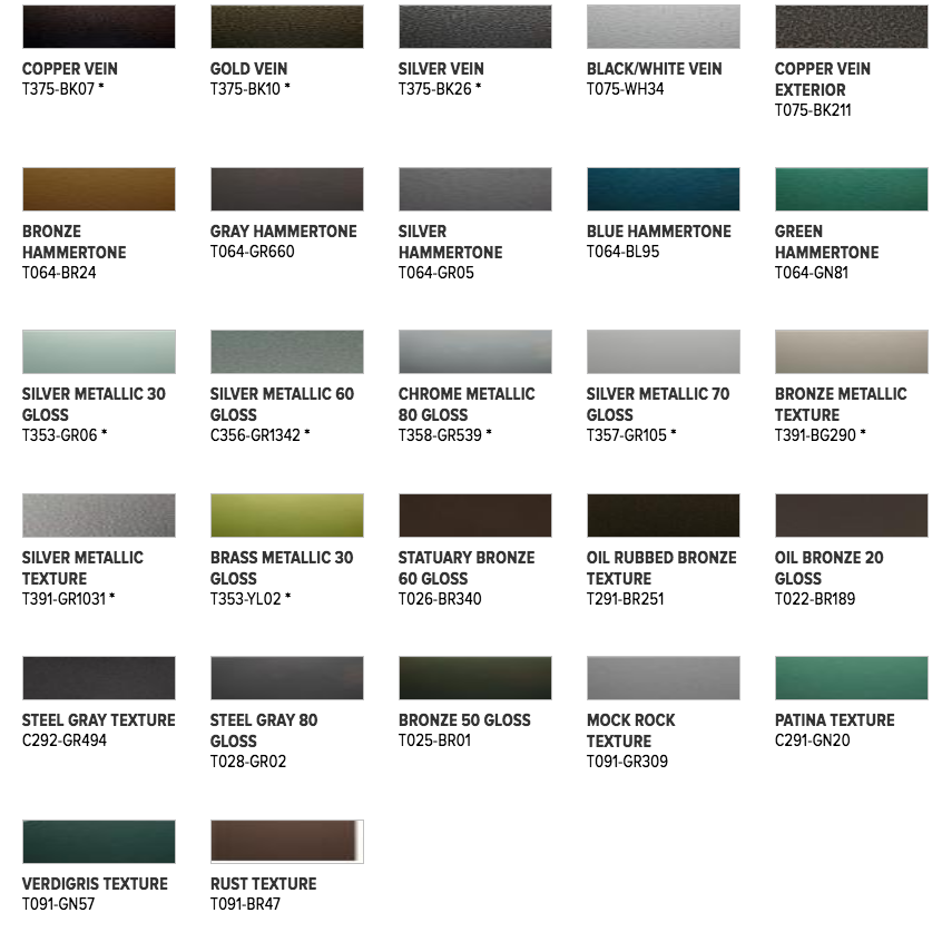 Metallic, Pearlescent, & Specialty Finishes
